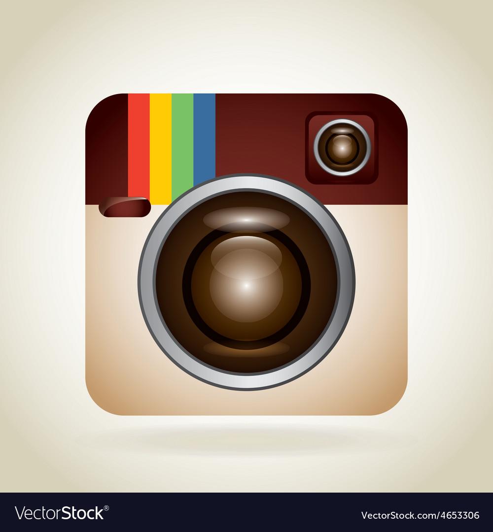 Photographic icon vector | Price: 1 Credit (USD $1)