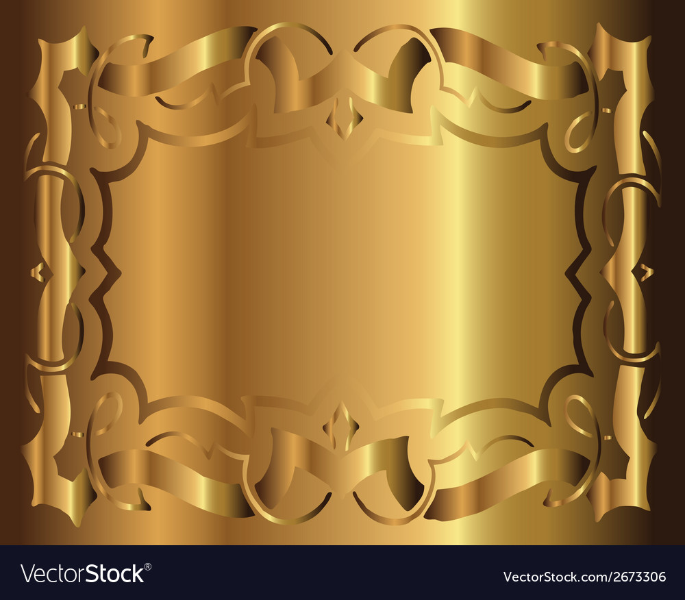 Royal vintage frame gold background vector | Price: 1 Credit (USD $1)
