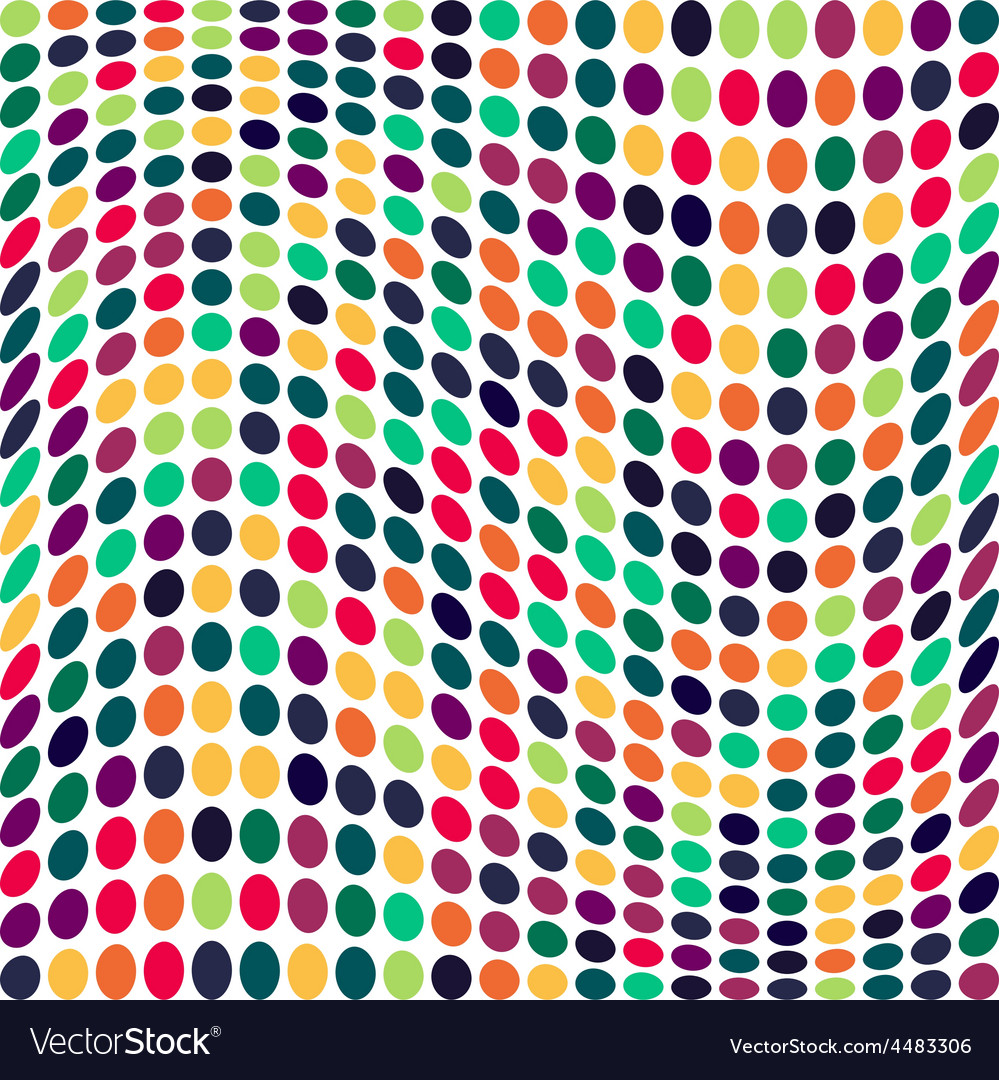 Seamless geometric pattern vertical wavy dots vector | Price: 1 Credit (USD $1)
