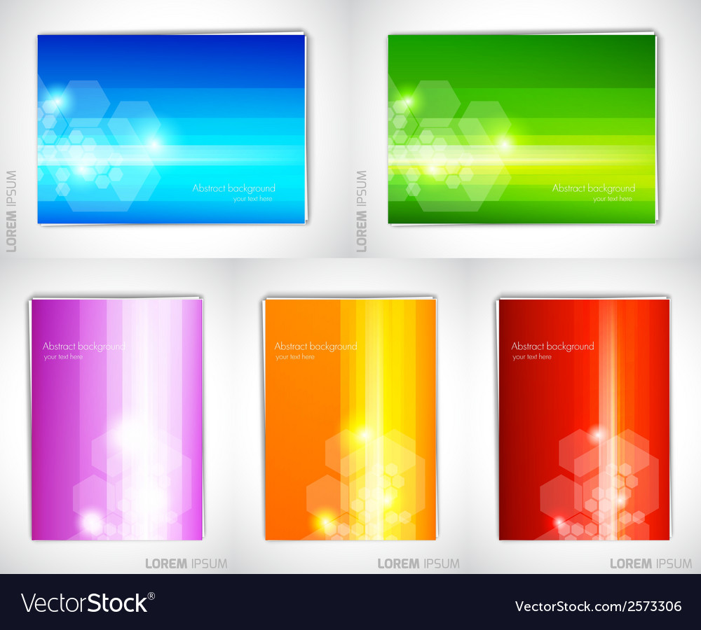 Set of bright backgrounds vector | Price: 1 Credit (USD $1)