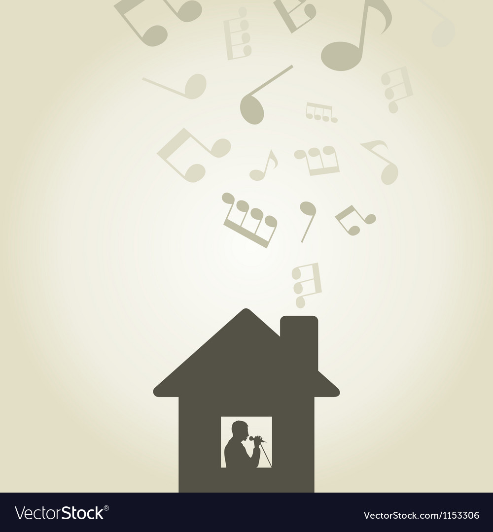 Singer in the house vector   Price: 1 Credit (USD $1)