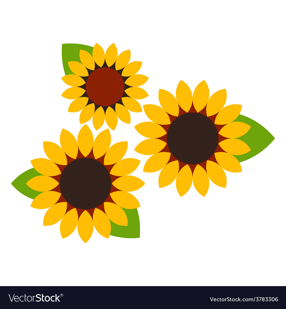 Sunflowers symbol vector | Price: 1 Credit (USD $1)