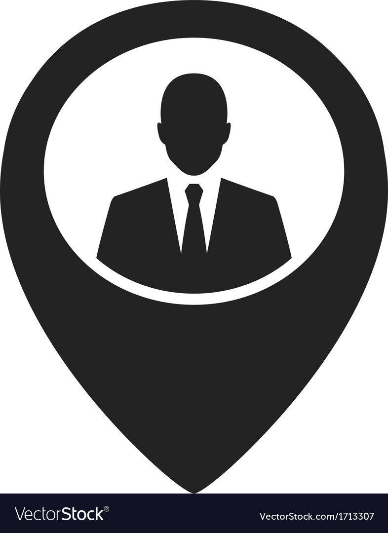 Businessman black web pointer icon vector | Price: 1 Credit (USD $1)