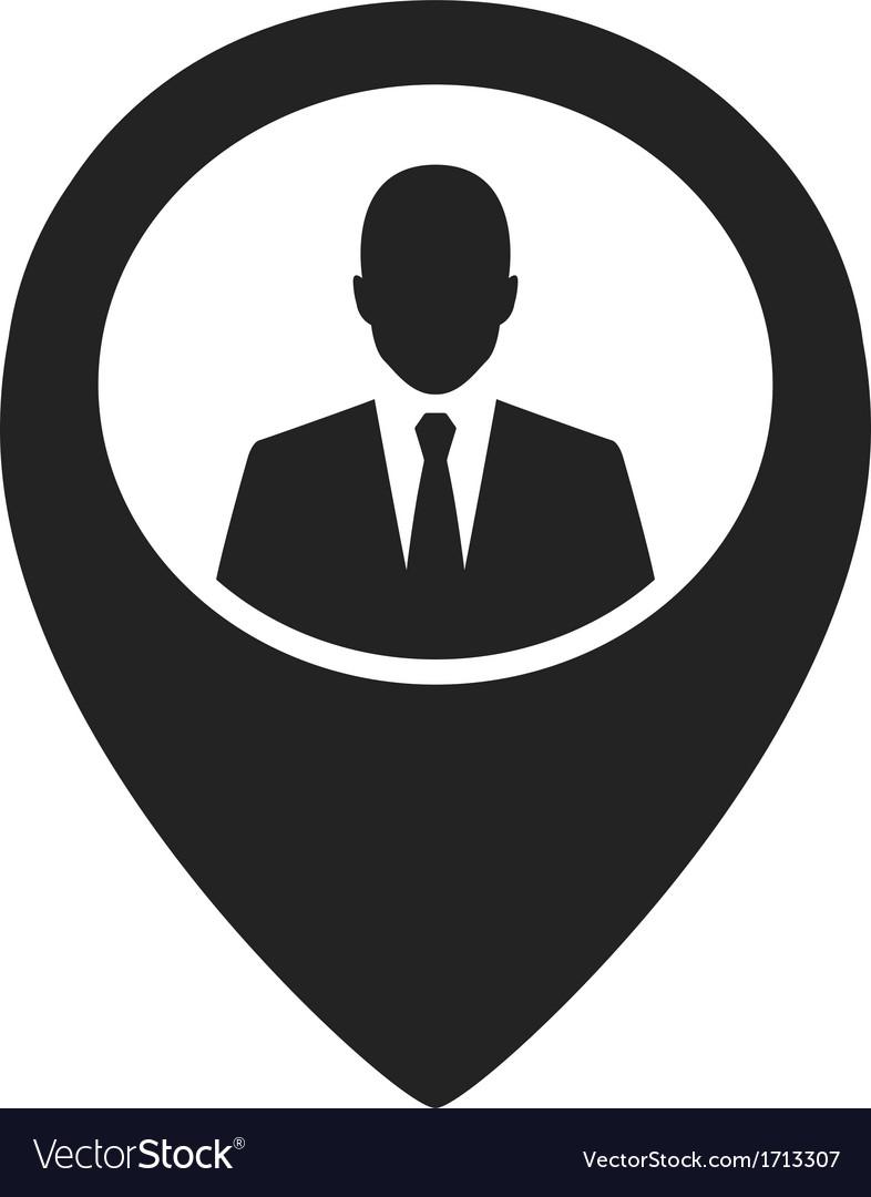 Businessman black web pointer icon vector | Price: 1 Credit (USD $1)