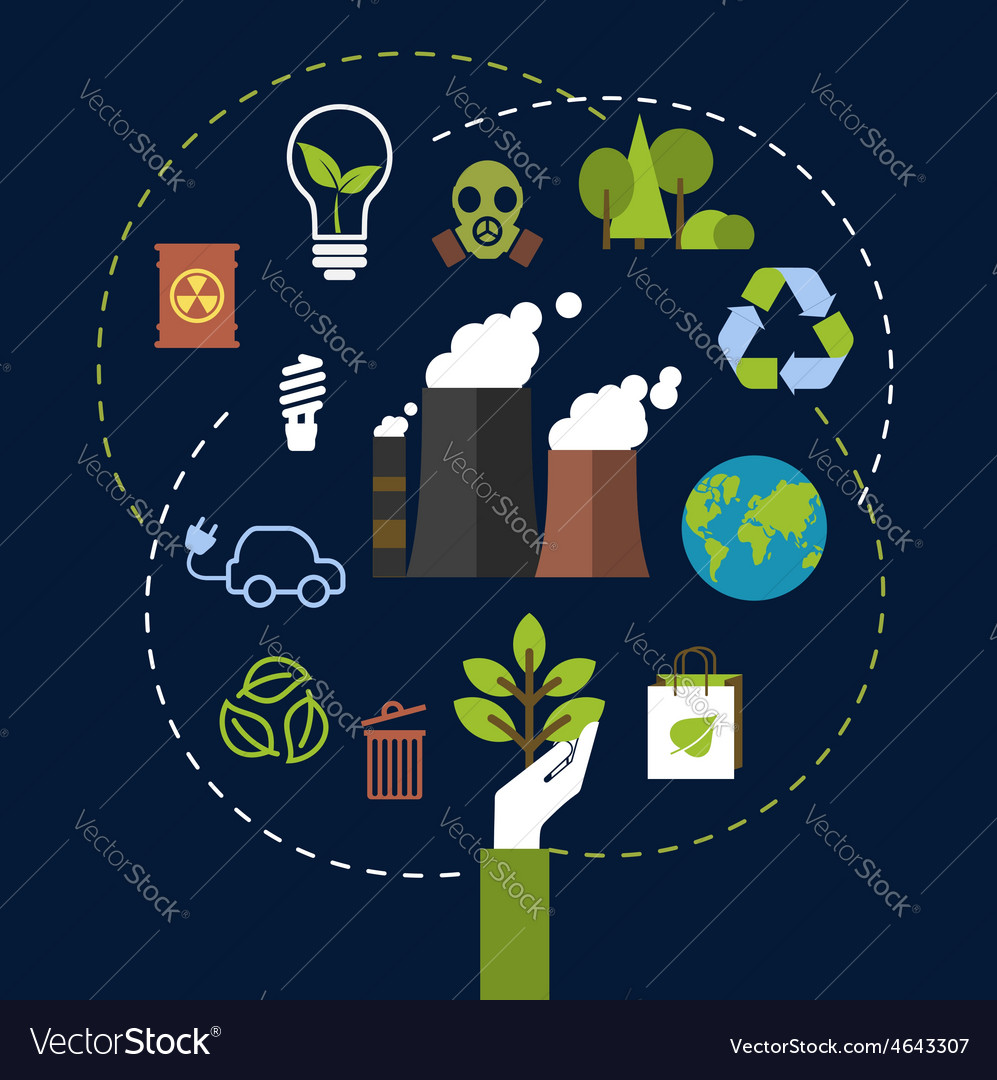 Environmental and ecological conservation concept vector | Price: 1 Credit (USD $1)