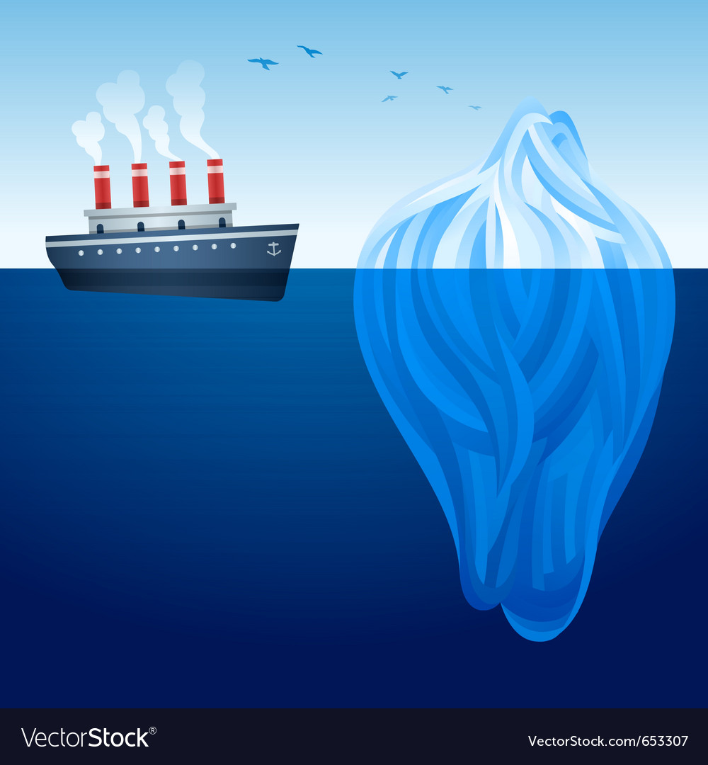 Iceberg ship vector | Price: 1 Credit (USD $1)