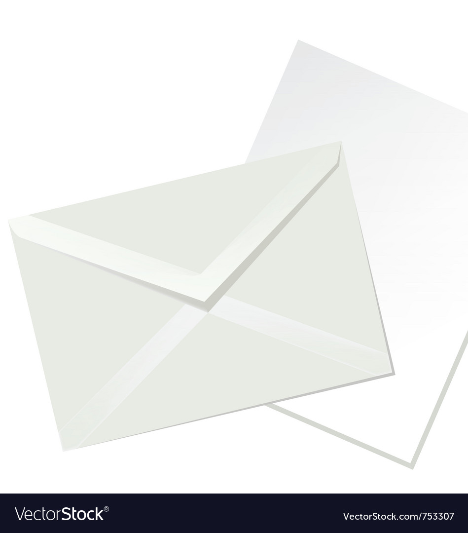 Letter envelope and white paper vector | Price: 1 Credit (USD $1)