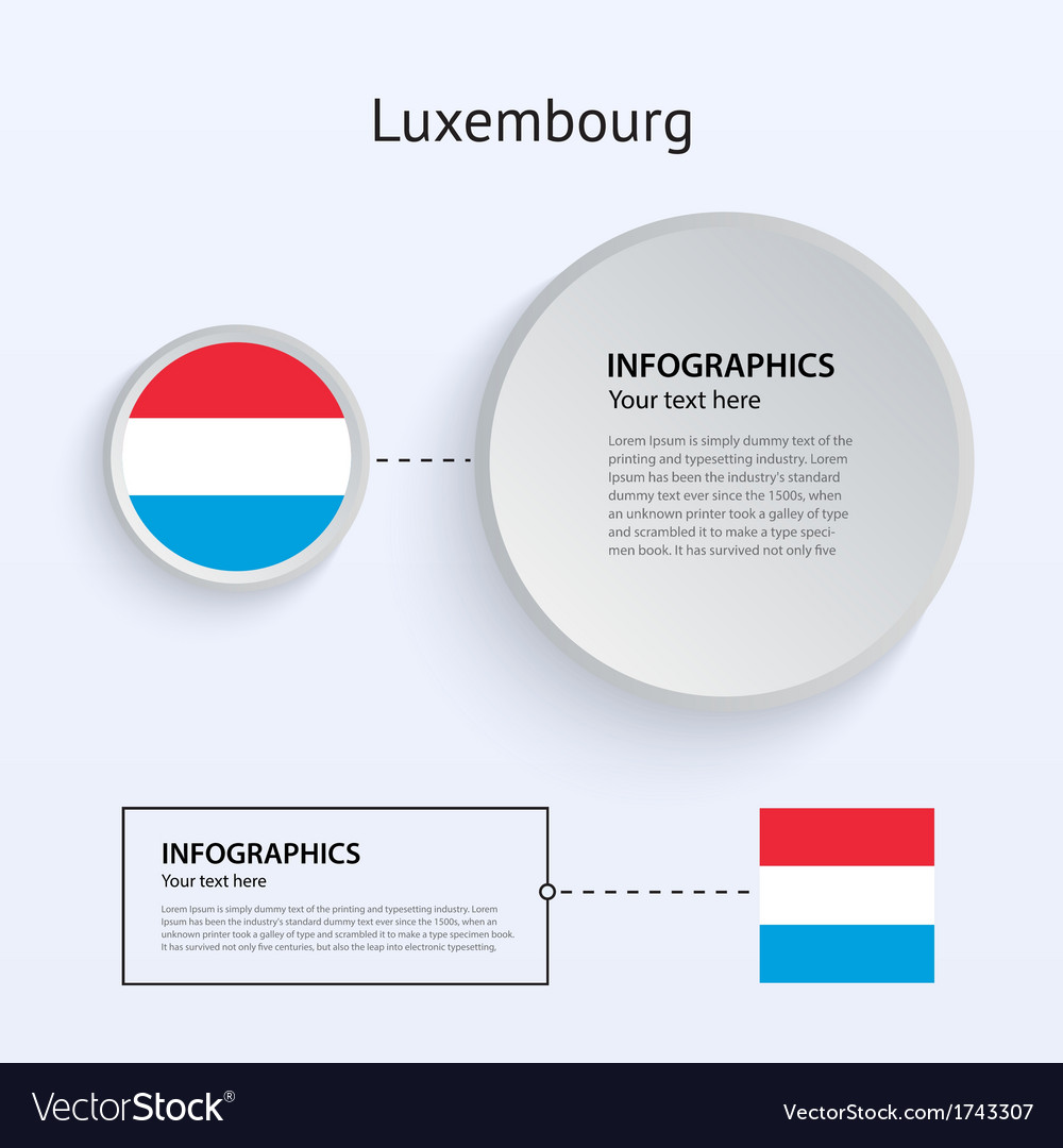 Luxembourg country set of banners vector | Price: 1 Credit (USD $1)