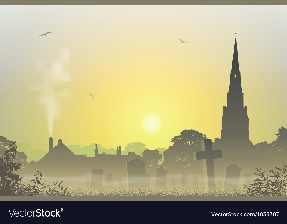 Misty landscape vector | Price: 3 Credit (USD $3)