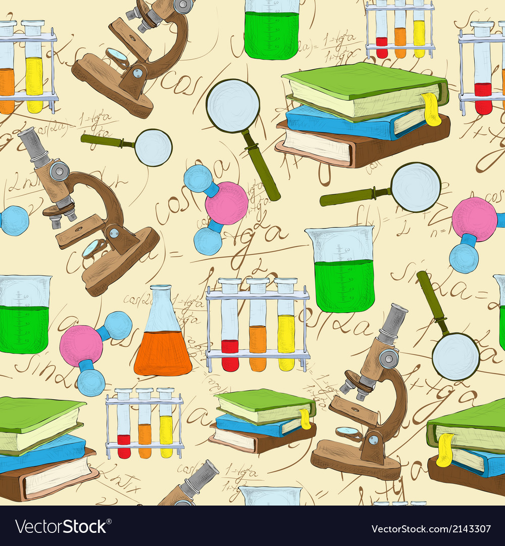 Science sketch seamless background vector | Price: 1 Credit (USD $1)