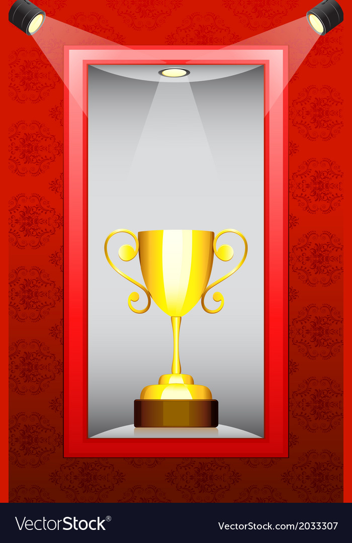 Trophy in display vector | Price: 1 Credit (USD $1)