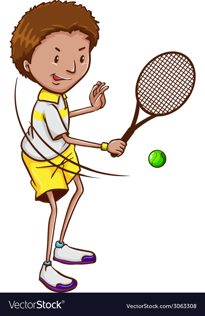 A tennis player vector | Price: 1 Credit (USD $1)