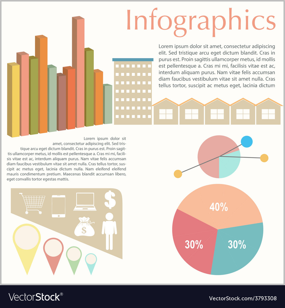 An infochart of the buildings vector | Price: 1 Credit (USD $1)