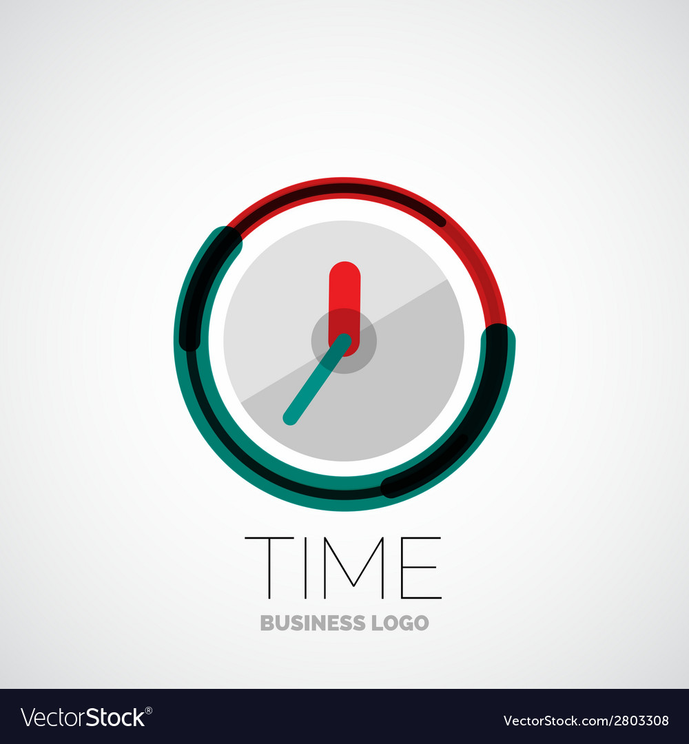 Clock time company logo business concept vector | Price: 1 Credit (USD $1)