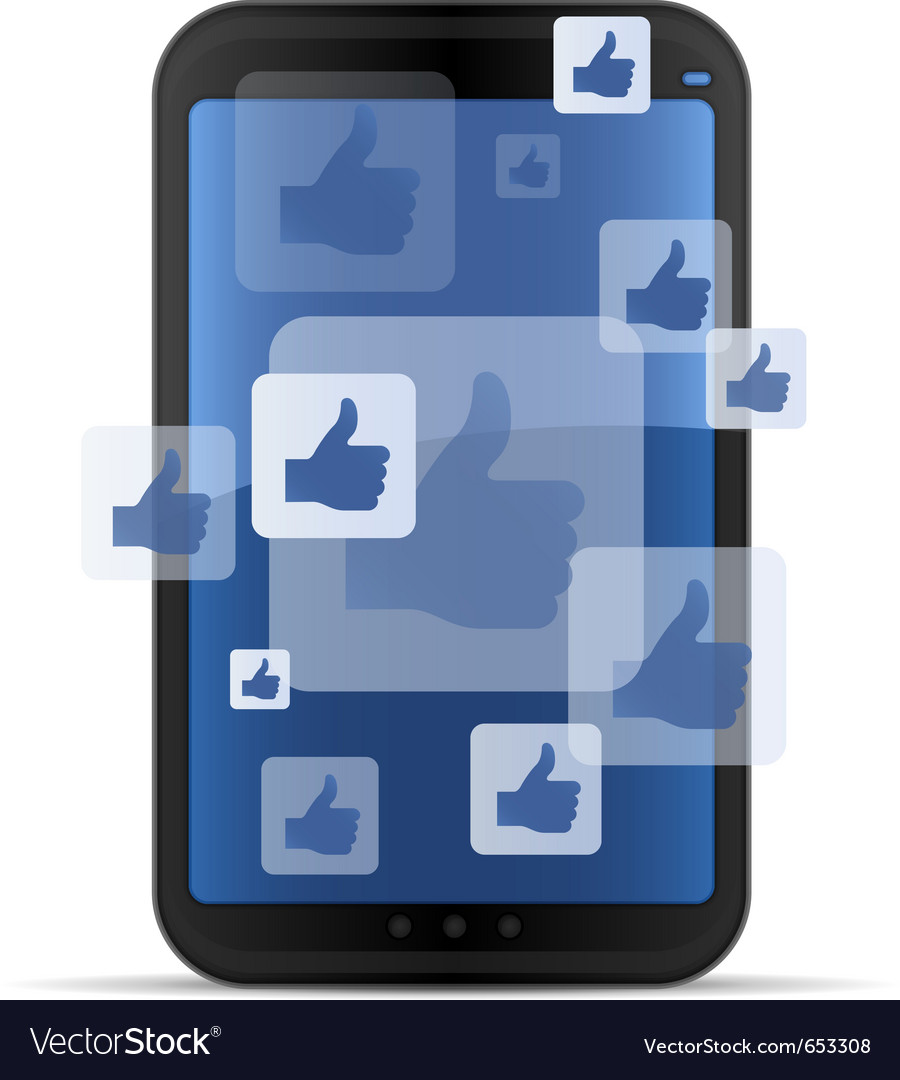 Mobile social networking vector | Price: 1 Credit (USD $1)