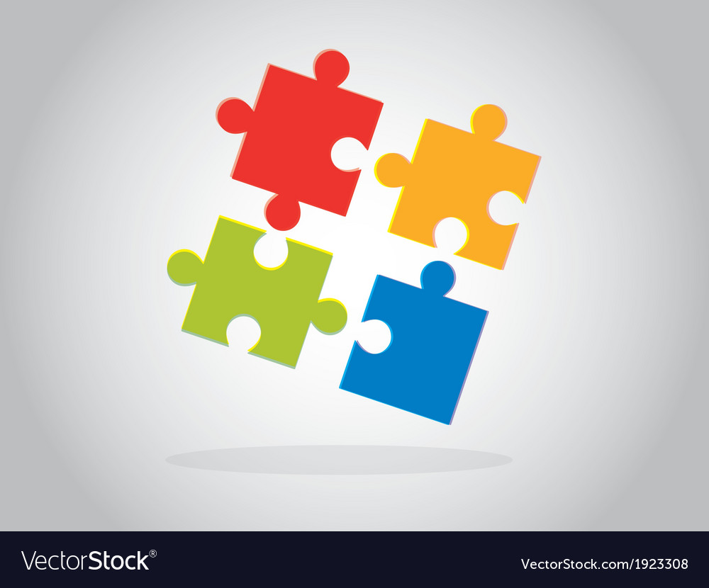 Multicolor puzzle pieces vector | Price: 1 Credit (USD $1)