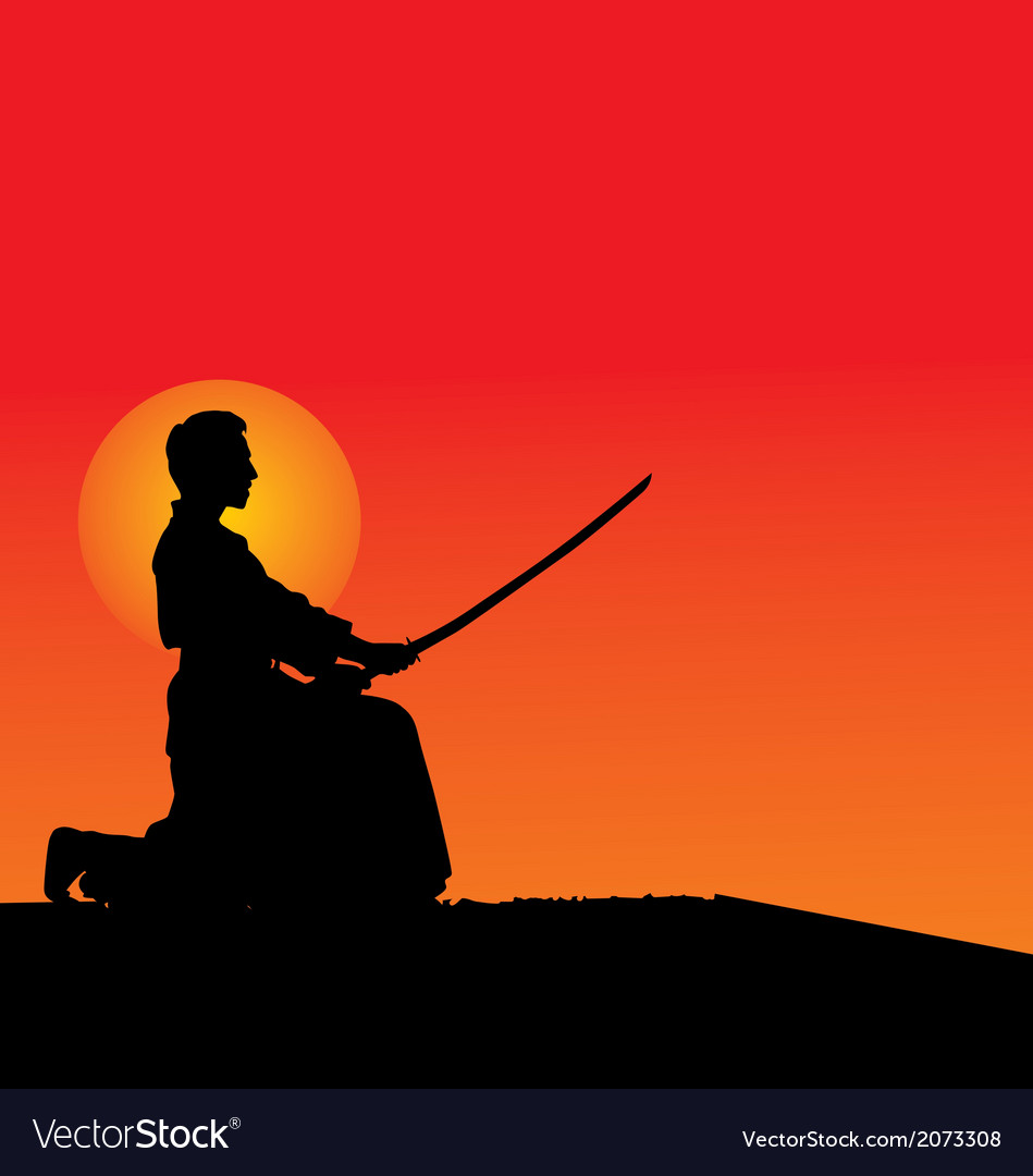 Samurai silhouettes vector | Price: 1 Credit (USD $1)