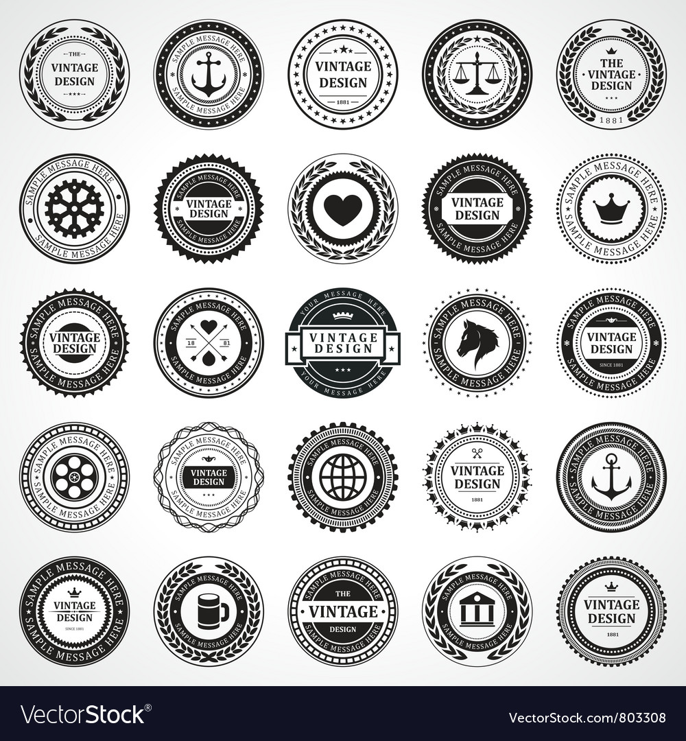 Vintage style retro emblem vector | Price: 3 Credit (USD $3)