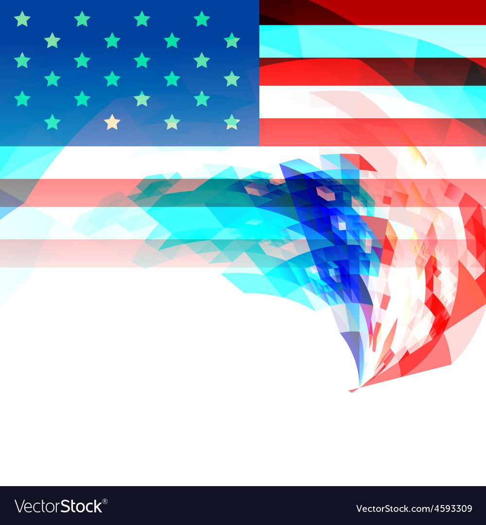 Creative 4th of july america background vector | Price: 1 Credit (USD $1)