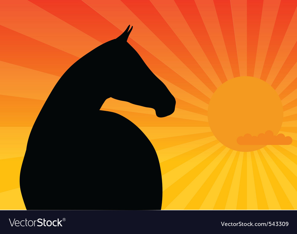 Dark horse vector | Price: 1 Credit (USD $1)