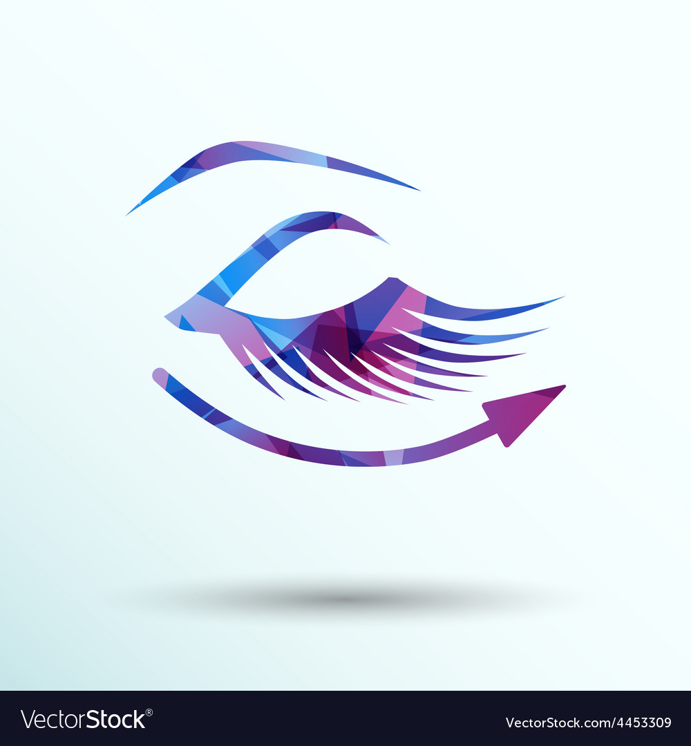 Eyelashes eye icon clip isolated human soft vector | Price: 1 Credit (USD $1)