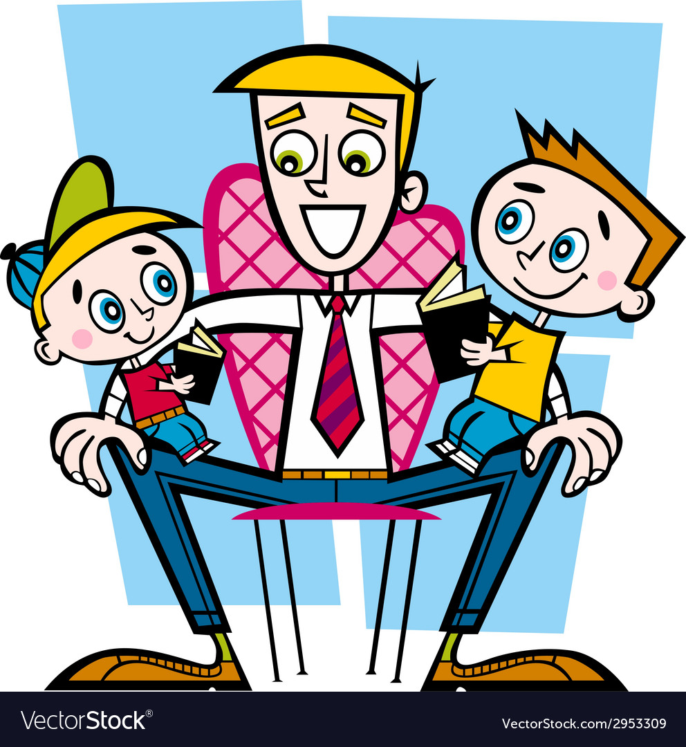 Family daddy vector | Price: 1 Credit (USD $1)