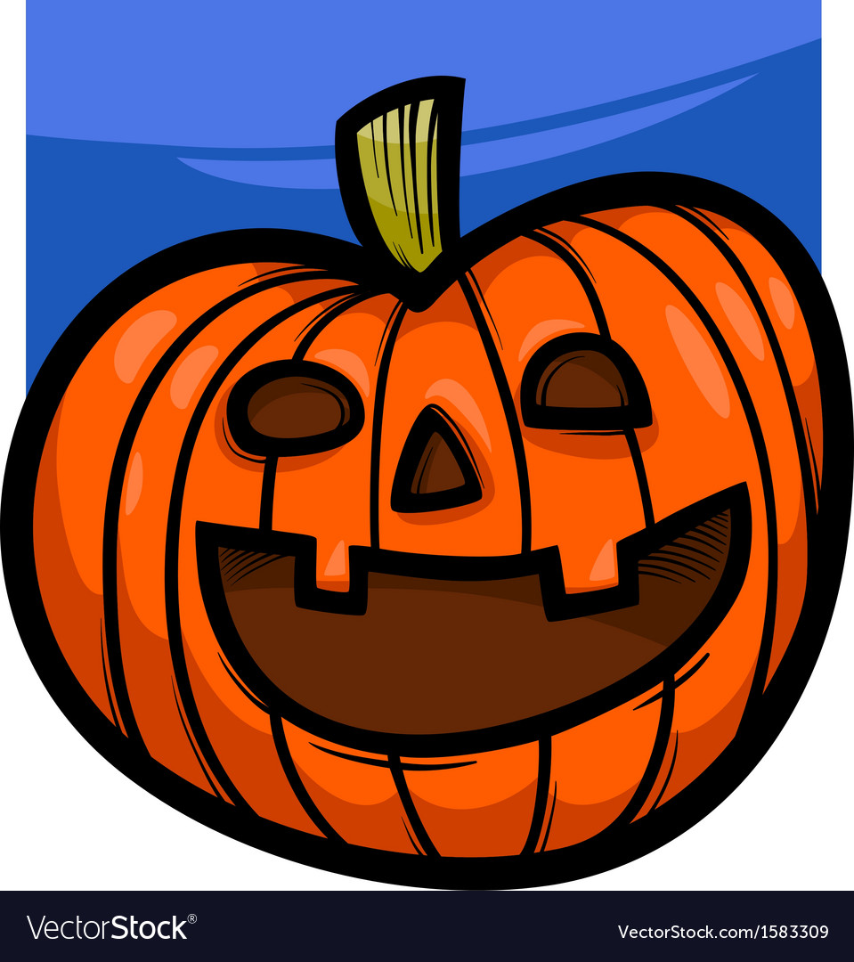 Halloween pumpkin cartoon vector | Price: 1 Credit (USD $1)