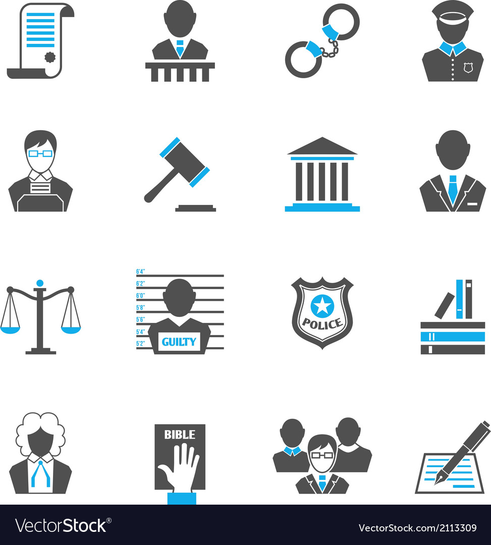 Law icons set vector | Price: 1 Credit (USD $1)