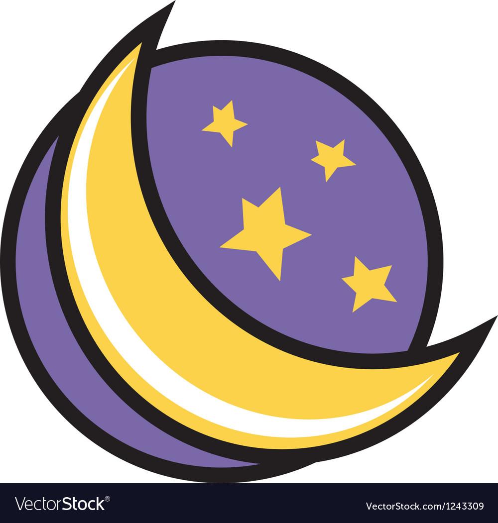 Moon night logo vector   Price: 1 Credit (USD $1)
