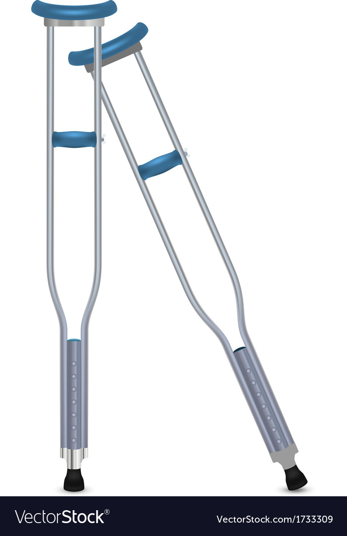 Pair of orthopedic crutches vector | Price: 1 Credit (USD $1)