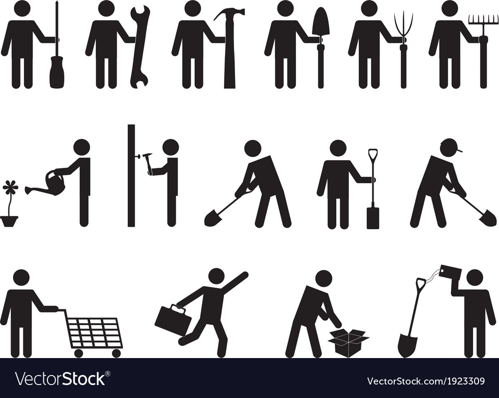People pictogram activities vector | Price: 1 Credit (USD $1)