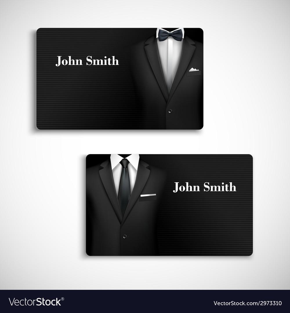 Businessman suit card set vector | Price: 1 Credit (USD $1)