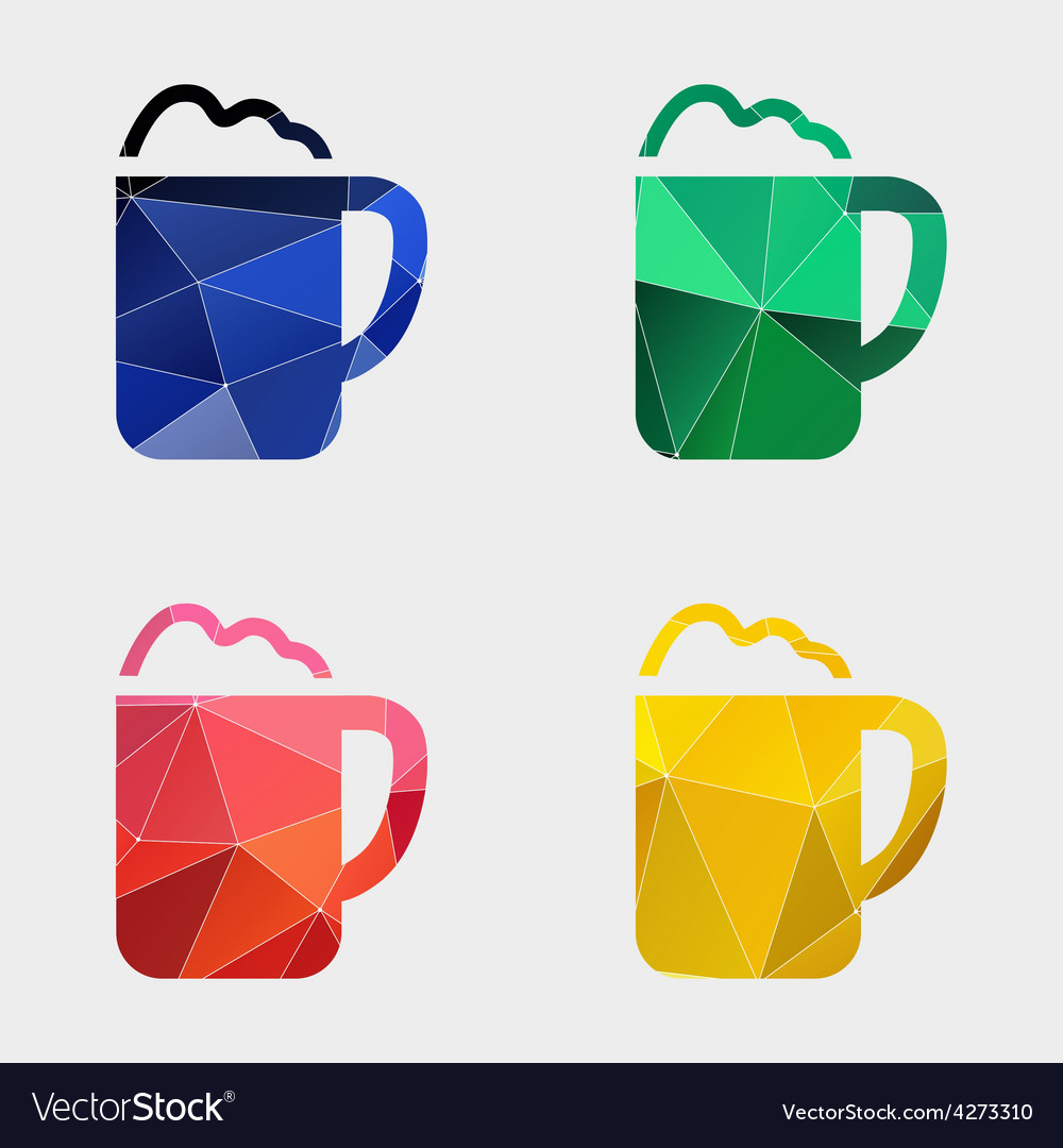 Cappuccino icon abstract triangle vector | Price: 1 Credit (USD $1)