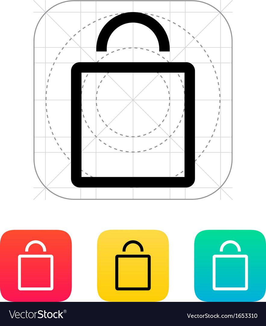 Empty bag icon vector | Price: 1 Credit (USD $1)