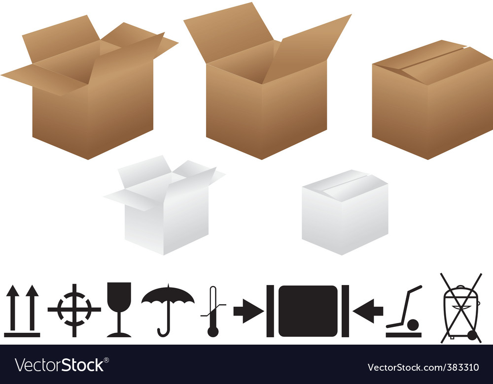 Packaging signs vector | Price: 1 Credit (USD $1)
