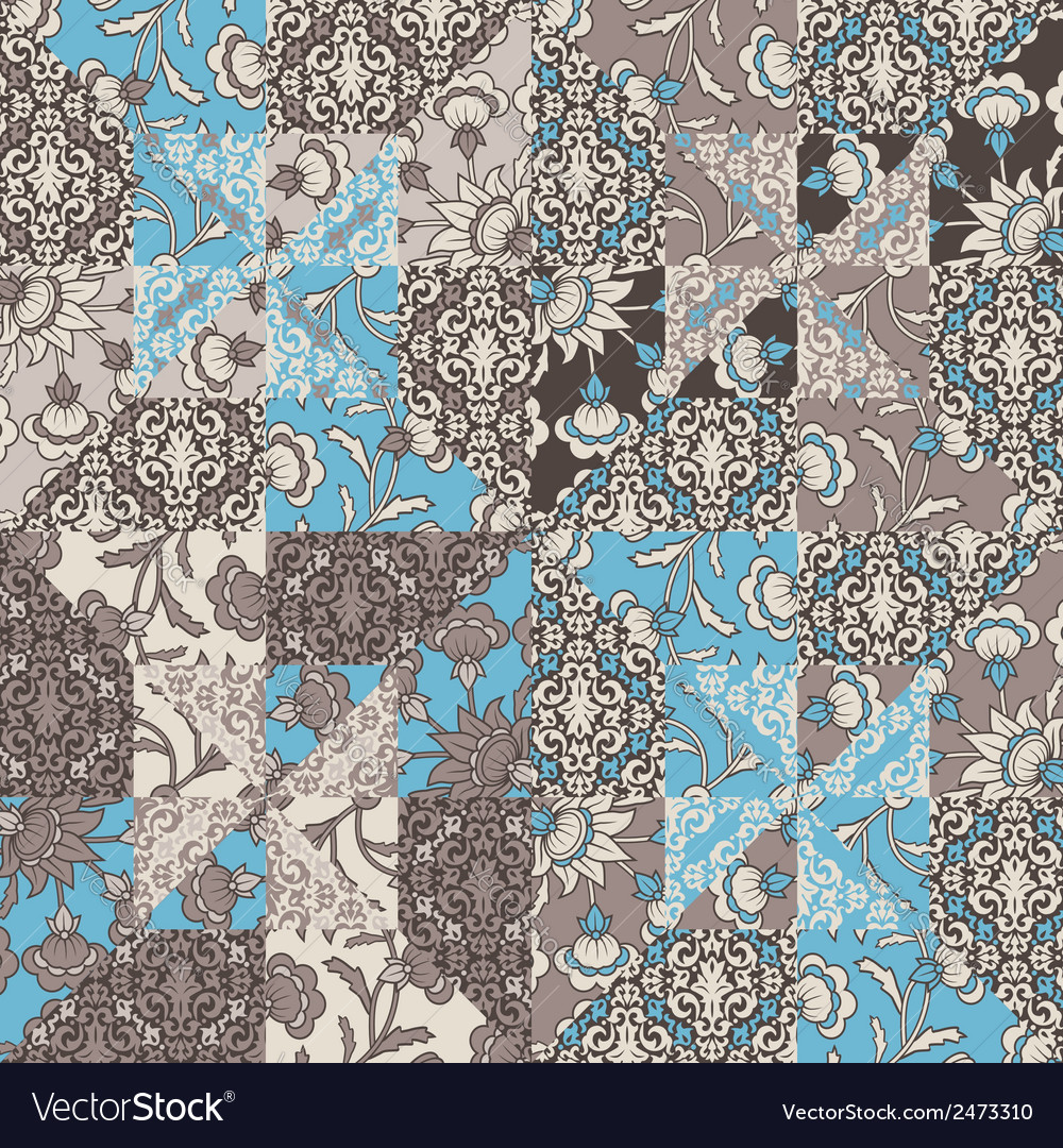 Quilt abstract seamless pattern vector | Price: 1 Credit (USD $1)