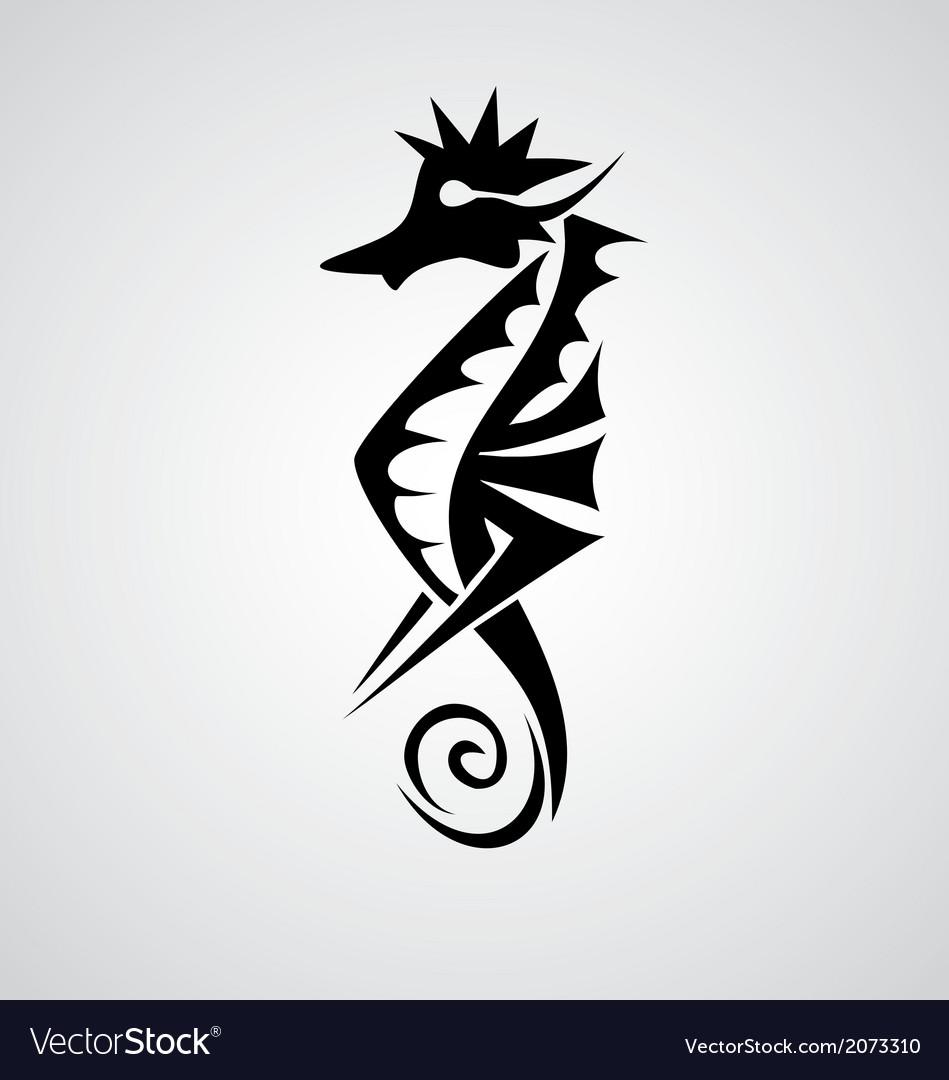 Seahorse tribal vector | Price: 1 Credit (USD $1)