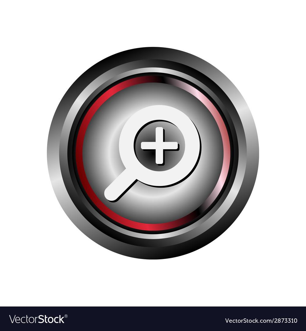 Zoom icon button vector   Price: 1 Credit (USD $1)
