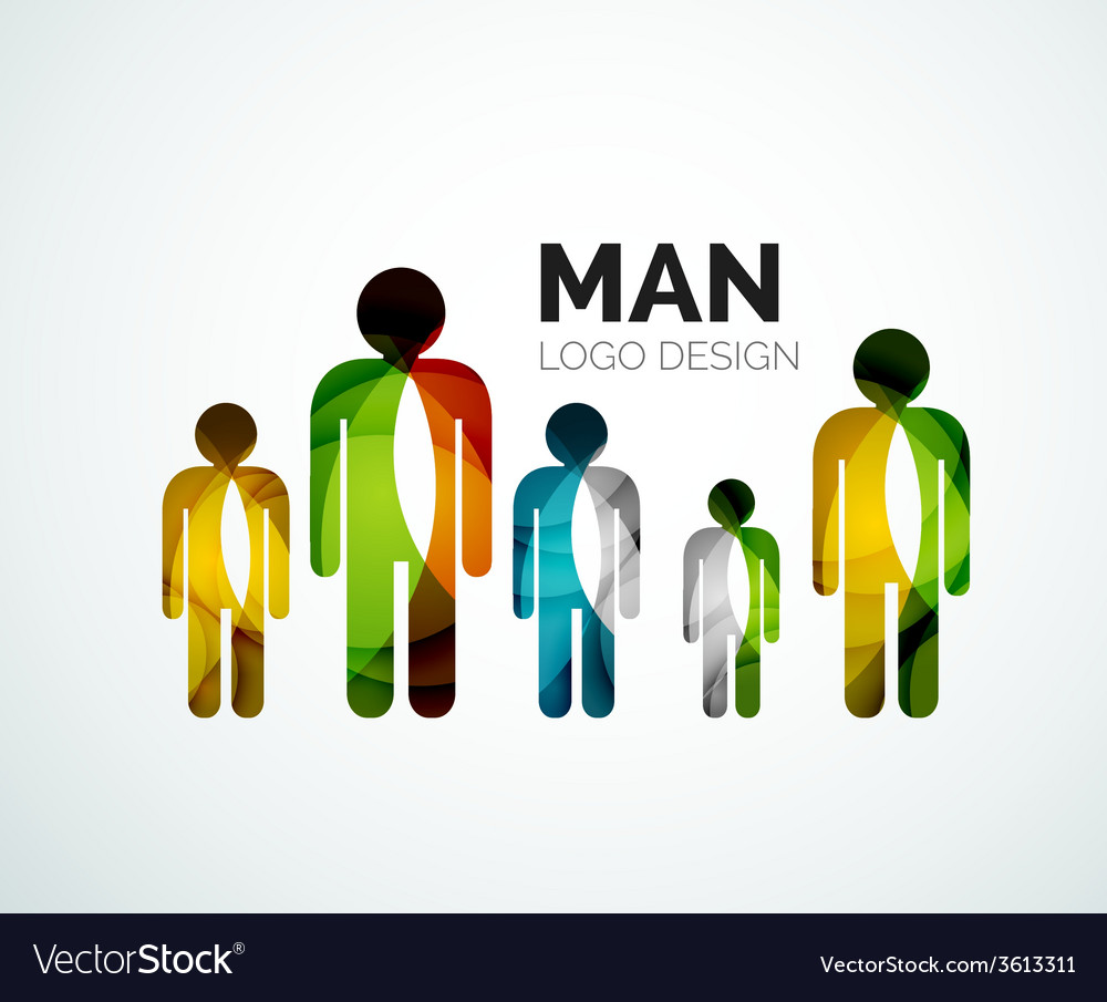 Abstract logo - man icon vector | Price: 1 Credit (USD $1)
