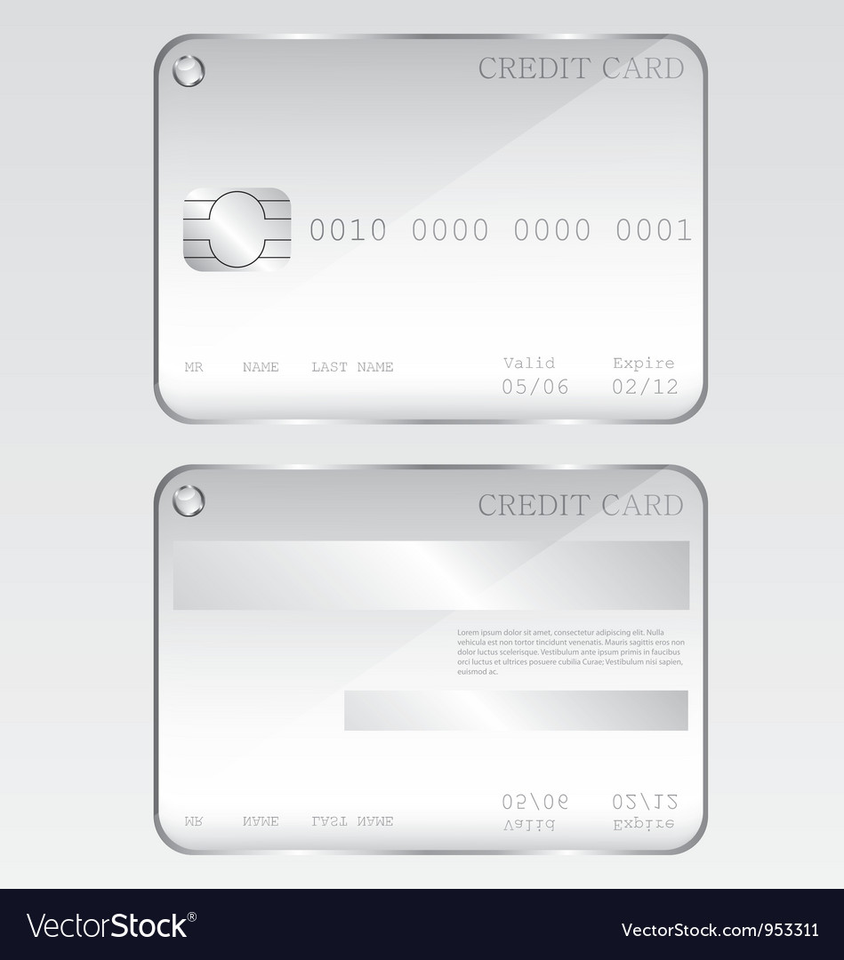 Credit card glass vector | Price: 1 Credit (USD $1)