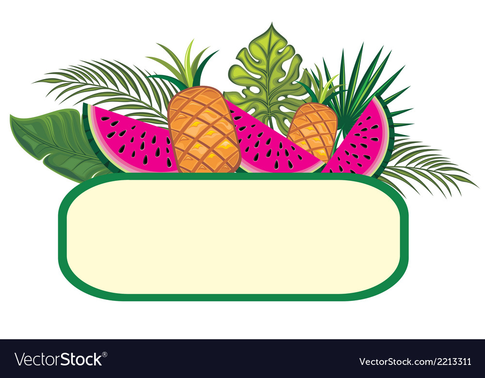 Exotic fruits vector | Price: 1 Credit (USD $1)