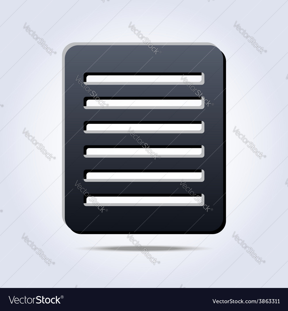 Gray list with text icon vector   Price: 1 Credit (USD $1)