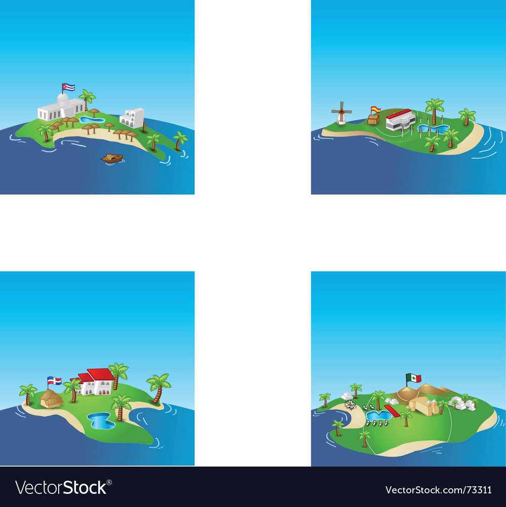 Islands vector | Price: 3 Credit (USD $3)