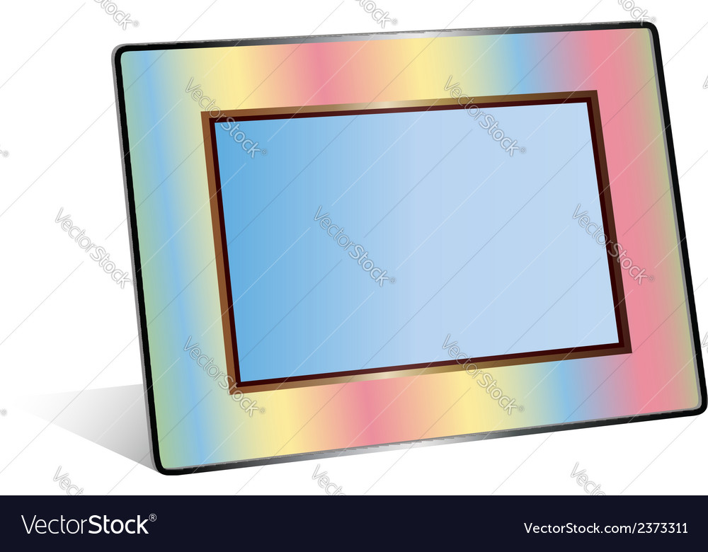 Photo frame isolated on white background vector | Price: 1 Credit (USD $1)