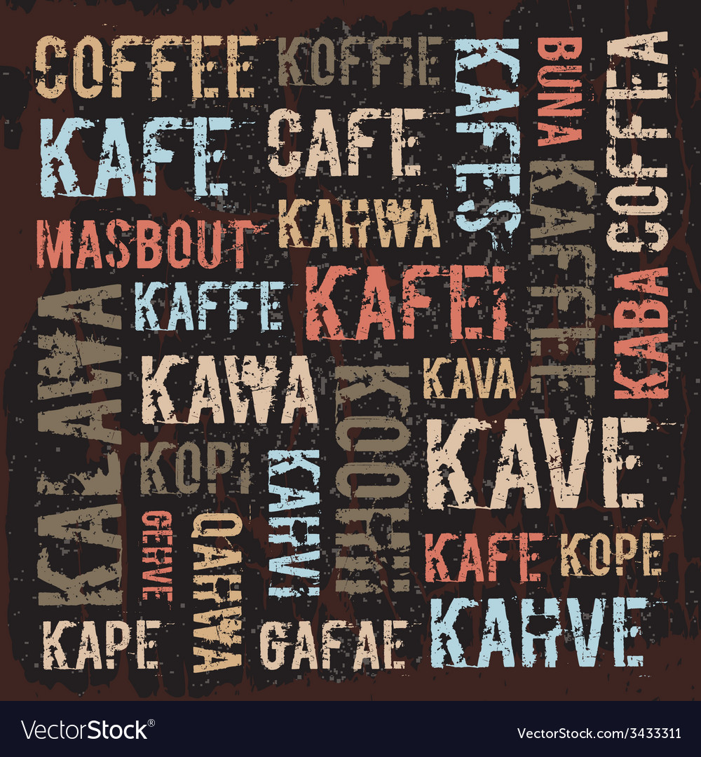 Poster decorative panels labeled coffee in vector   Price: 1 Credit (USD $1)