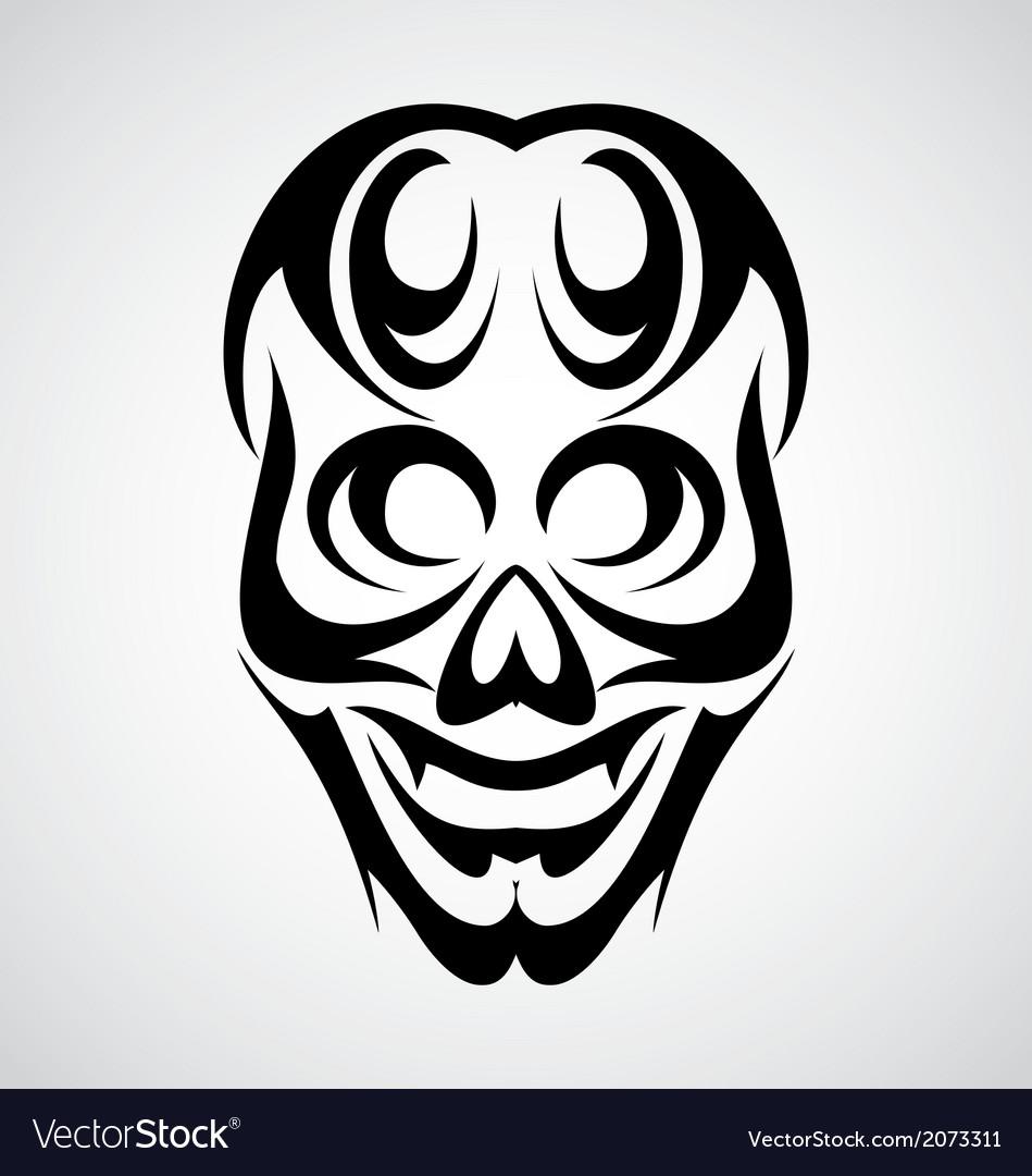 Skull tribal vector   Price: 1 Credit (USD $1)