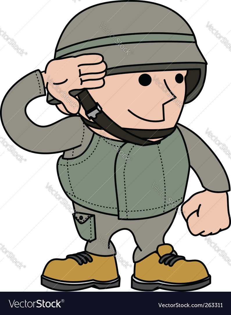Soldier saluting vector | Price: 1 Credit (USD $1)