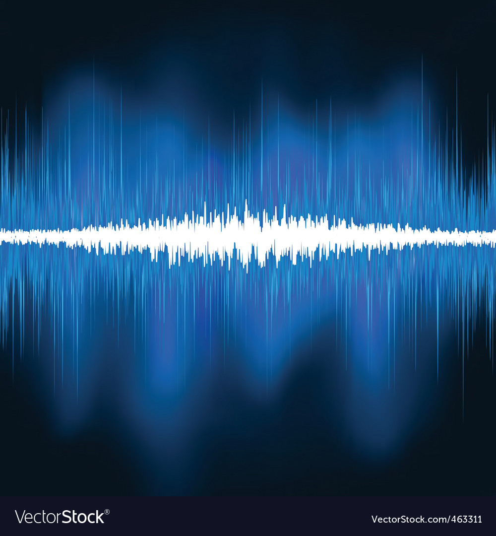 Sound waves oscillating glow light vector | Price: 1 Credit (USD $1)