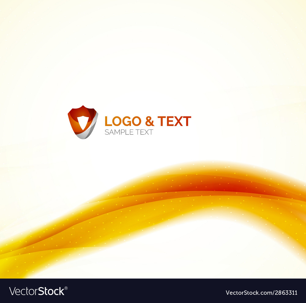 Sunny blur yellow wave design vector | Price: 1 Credit (USD $1)