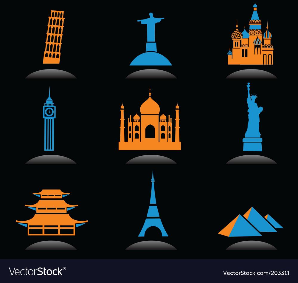 Travel landmarks vector | Price: 1 Credit (USD $1)